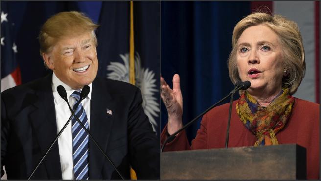 Donald Trump and Hillary Clinton_265882