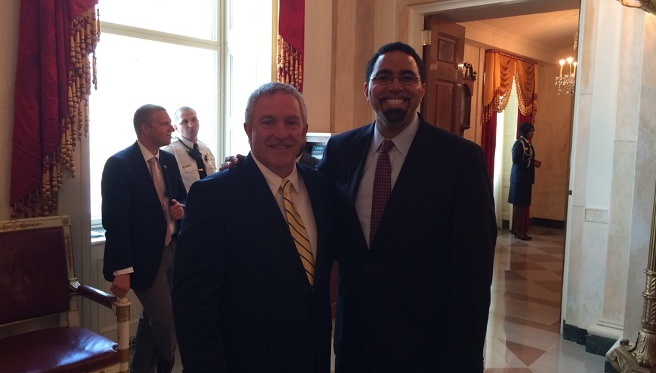Bishop Hendricken principal honored at the White House_298493