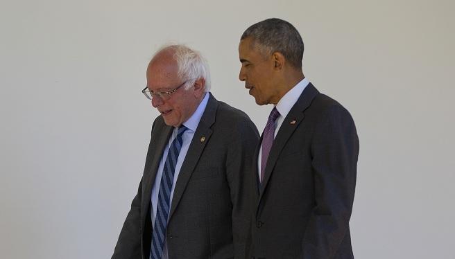 Barack Obama, Bernie Sanders_314570