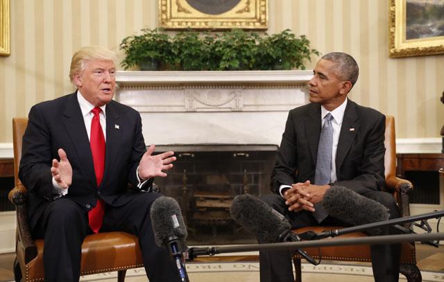 Donald Trump and Barack Obama_386238