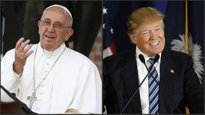 Pope Francis and Donald Trump_262306