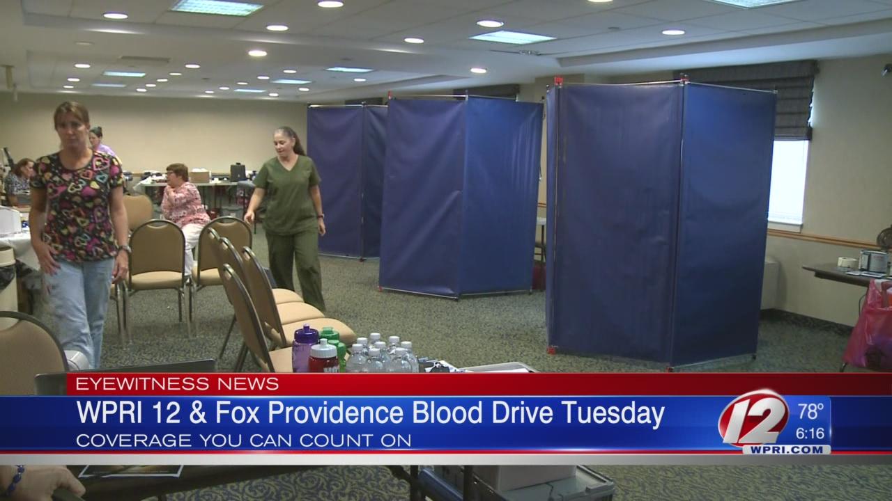 WPRI 12/Fox Providence Blood Drive Next Tuesday