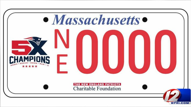 pats license plate_547100