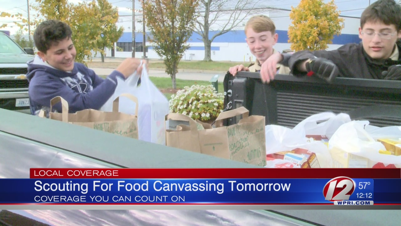 Scouting for Food Drive Kicks of Saturday