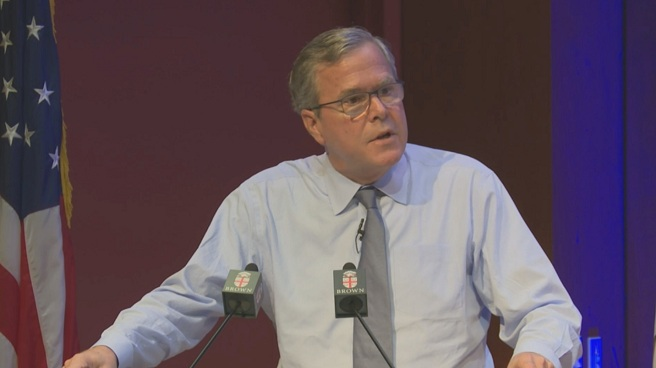 Jeb Bush speaks at Brown University