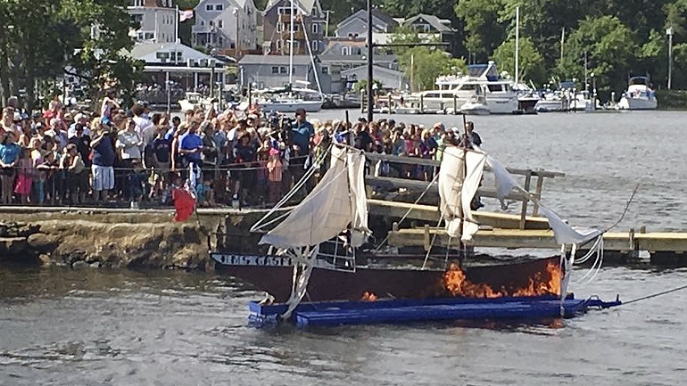 gaspee days ship burning