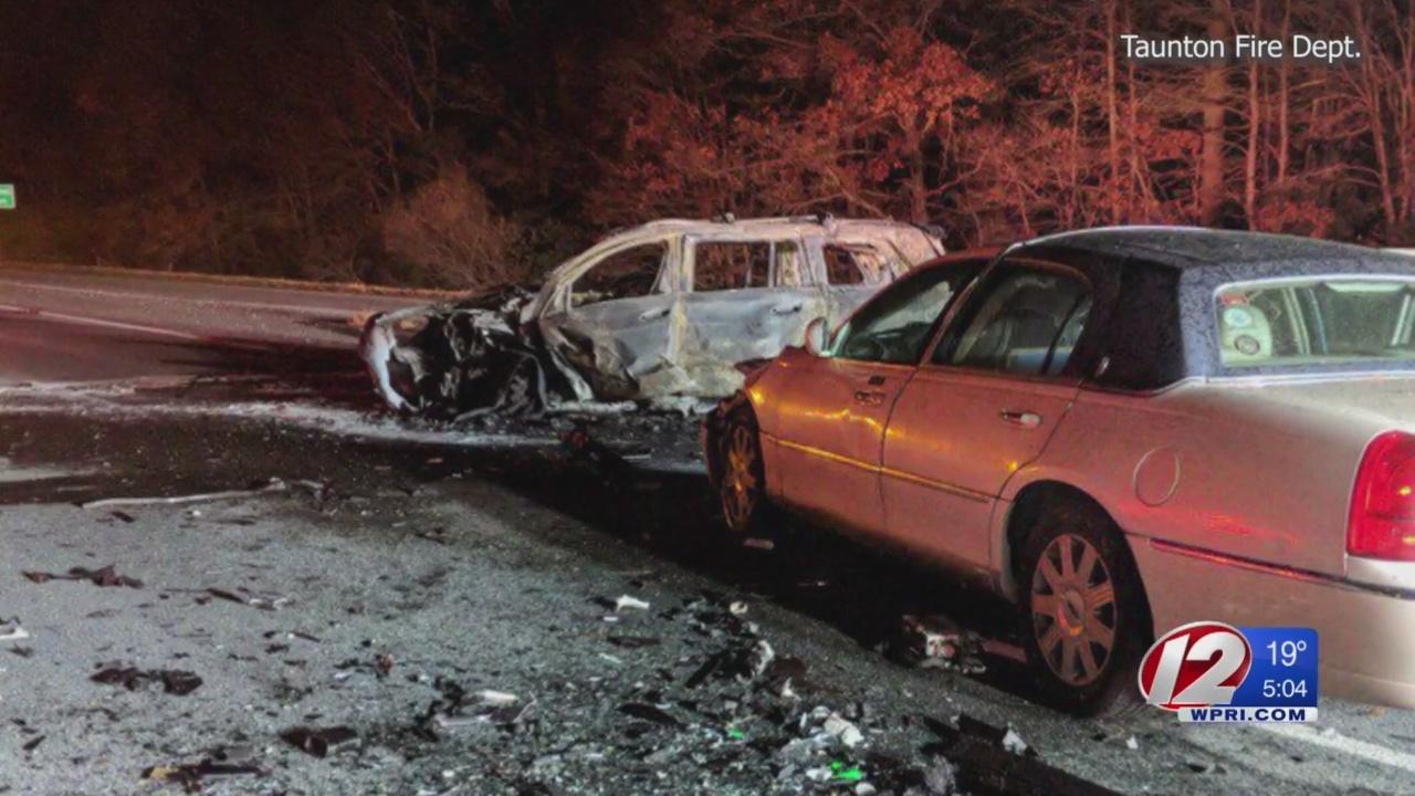 1 dead, 6 hurt after wrong-way highway crash