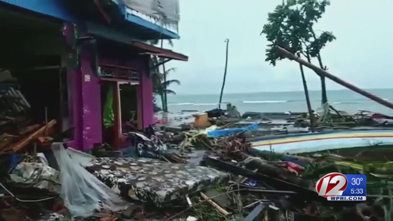 Catastrophic tsunami his Indonesia, dozens remain missing