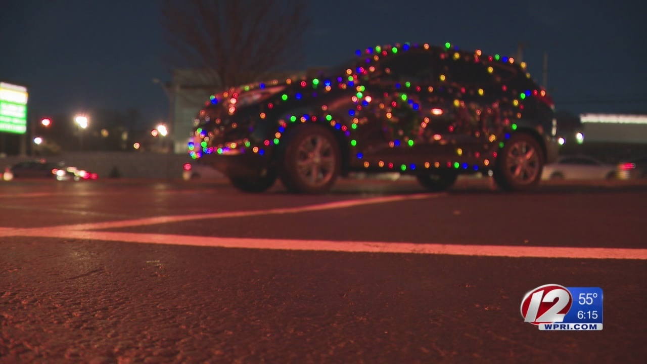 Delivering Christmas in a four-wheeled, shiny sleigh