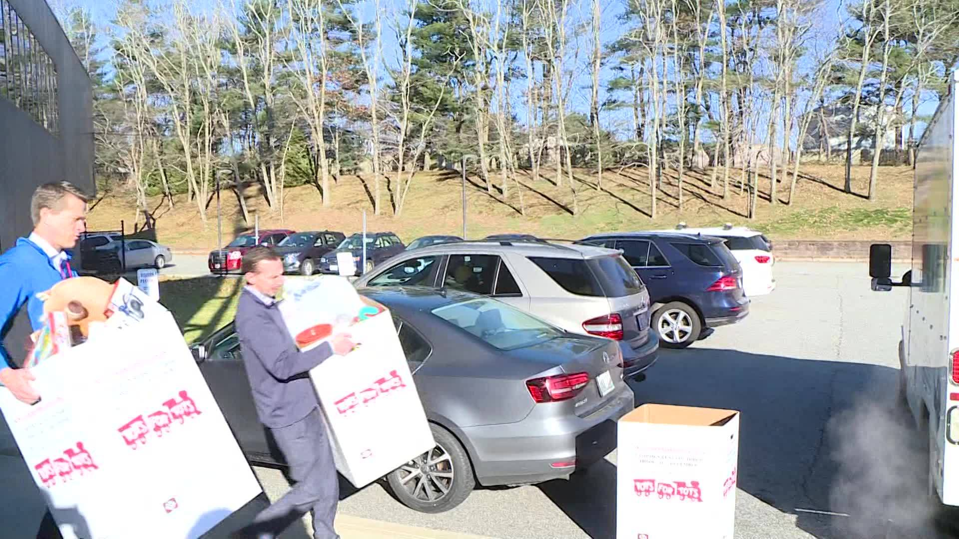 Video Now: Marines Pick Up Toys for Tots Donations