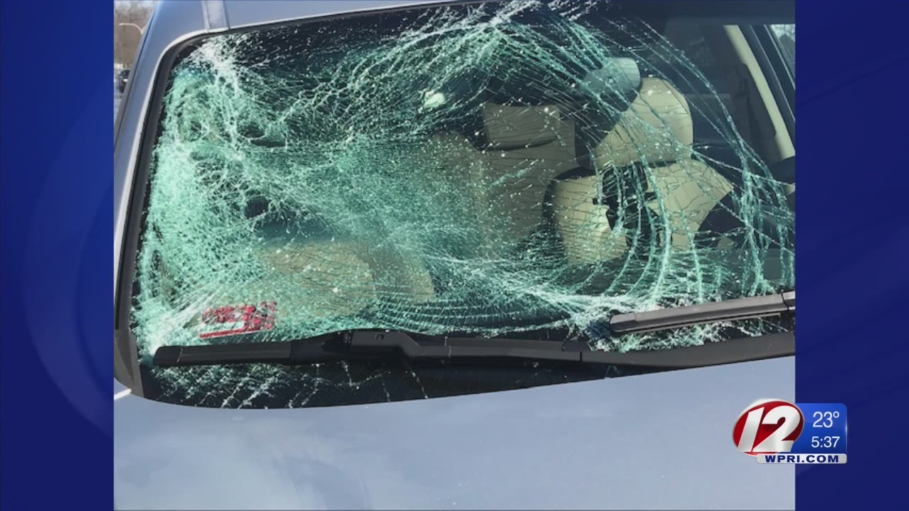 Driver: Snow, ice from highway signs smashed my windshield