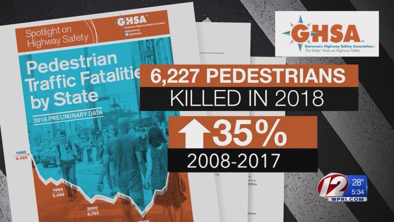 Pedestrian deaths up across the country, but not in RI