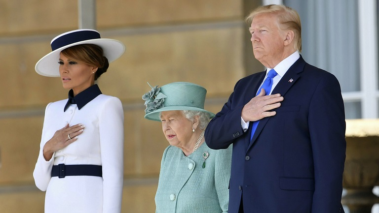 Donald Trump Melania visit London Queen Elizabeth