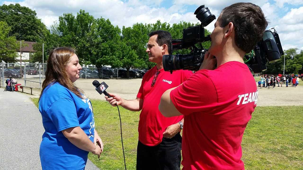 Interview Shot at Veazie St Field Day