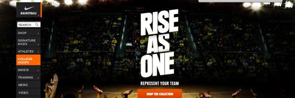 sport industry web design inspiration nike