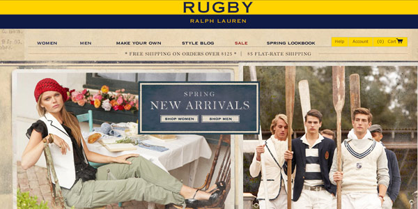 ralph lauren fashion website design