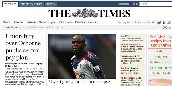 the times web design