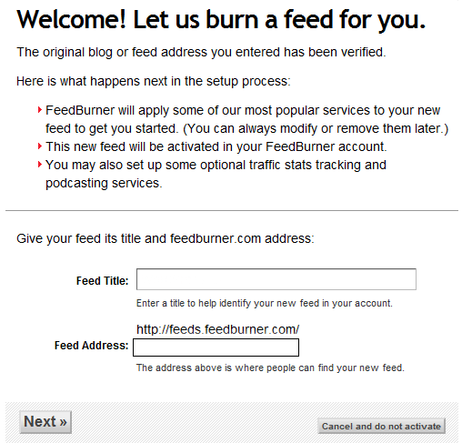 how to setup an rss feed feedburner feedburner-guide