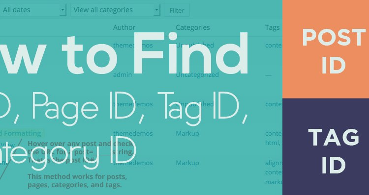How to Find Post ID Category ID