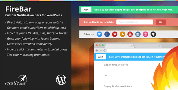 Firebar Notification Bar WordPress Plugin