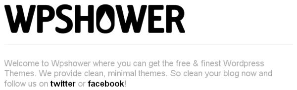 WPSHOWER Logo and Blurb
