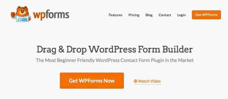WPForms 1 - Best Contact Form Plugins for WordPress Compared 2016