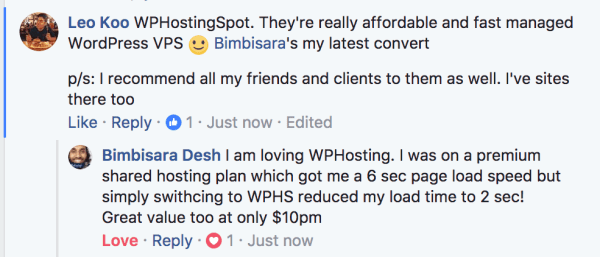 WPHostingSpot Review and Testimonial