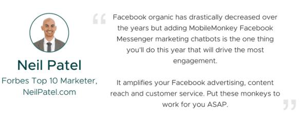 MobileMonkey Review: Neil Patel