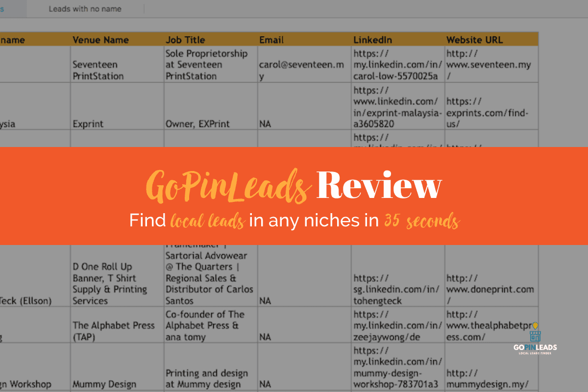 GoPinLeads Review