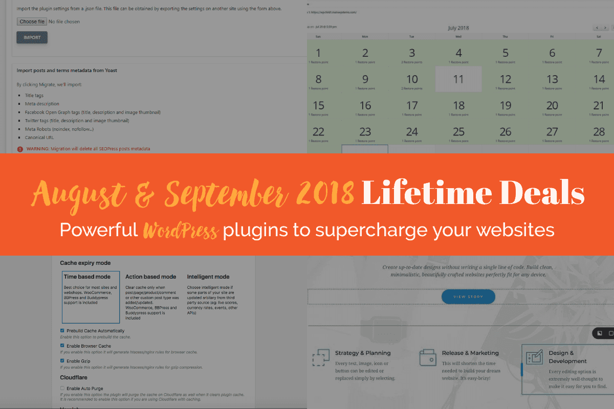August & September 2018 Lifetime Deals
