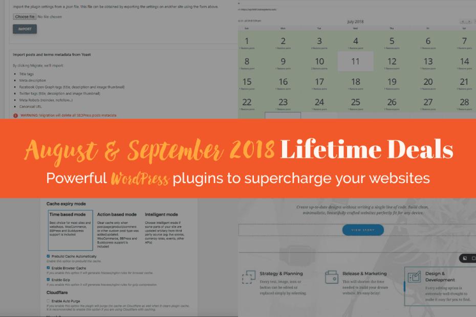 August & September 2018 Lifetime Deals