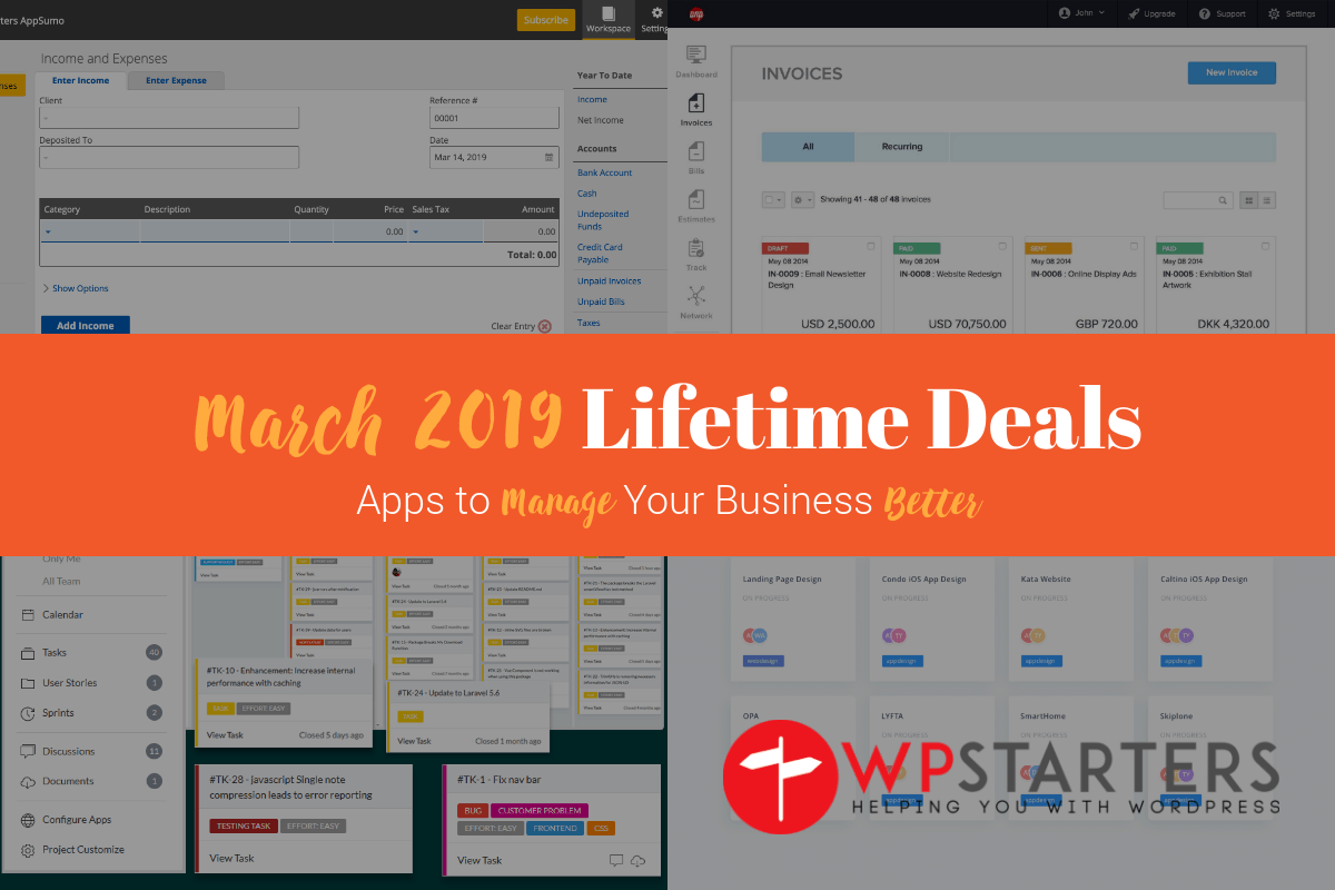 March 2019 Lifetime Deals: Manage Your Business Better