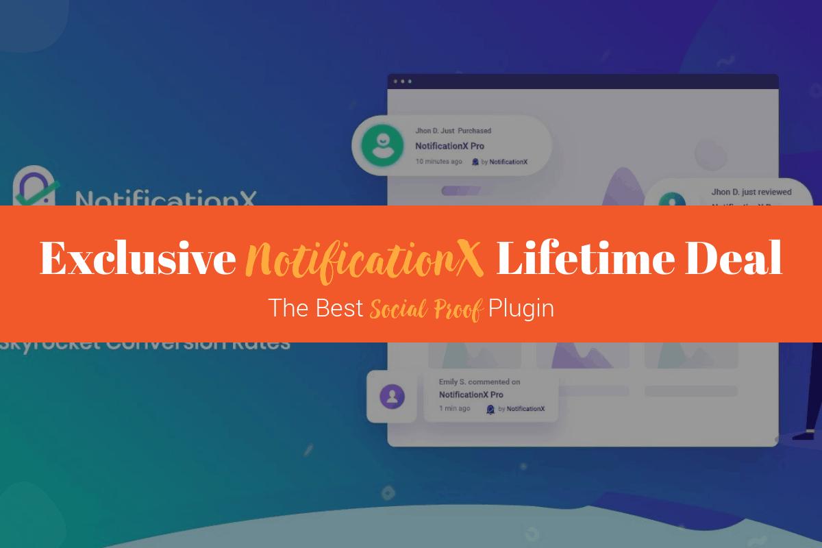 Exclusive NotificationX Lifetime Deal