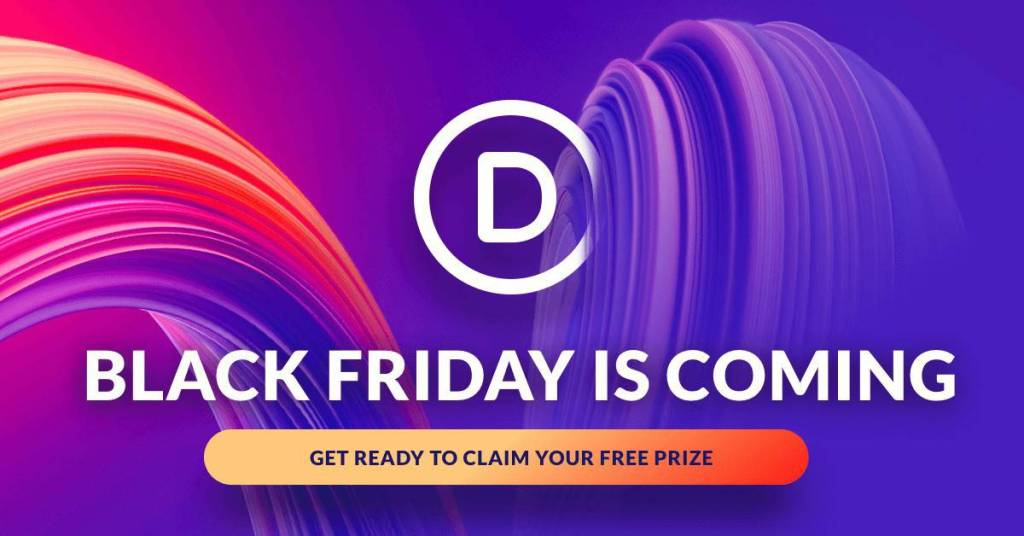 The Divi Black Friday Sale 2019 will include some massive giveaways