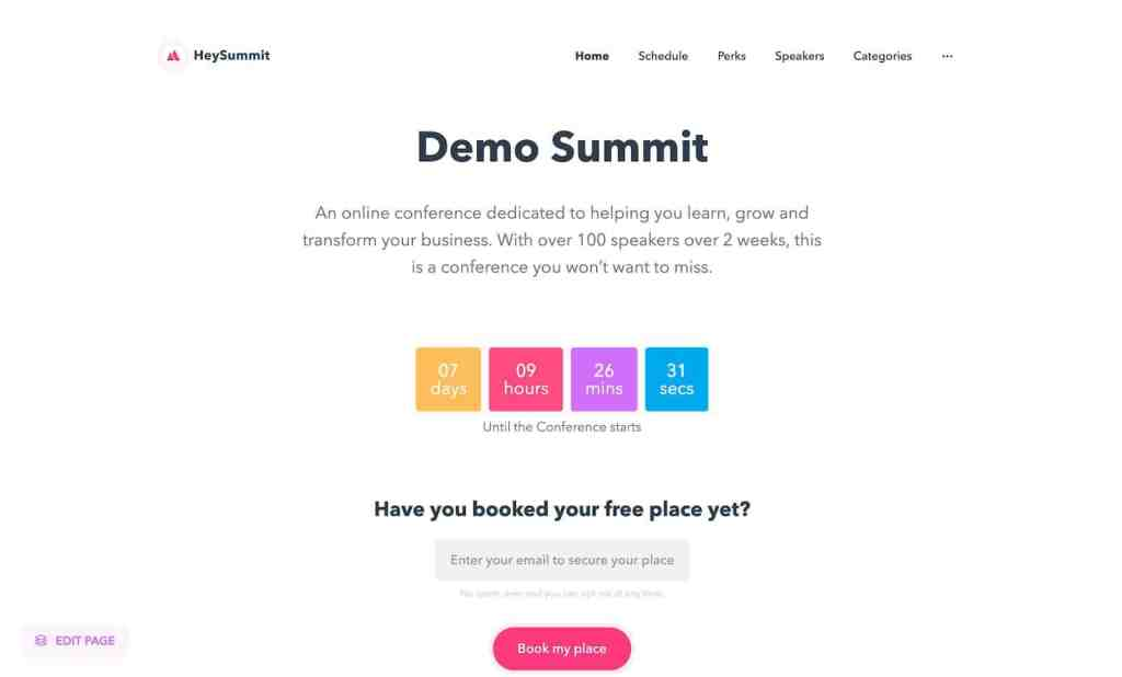 Increase your visibility and credibility in your industry with HeySummit