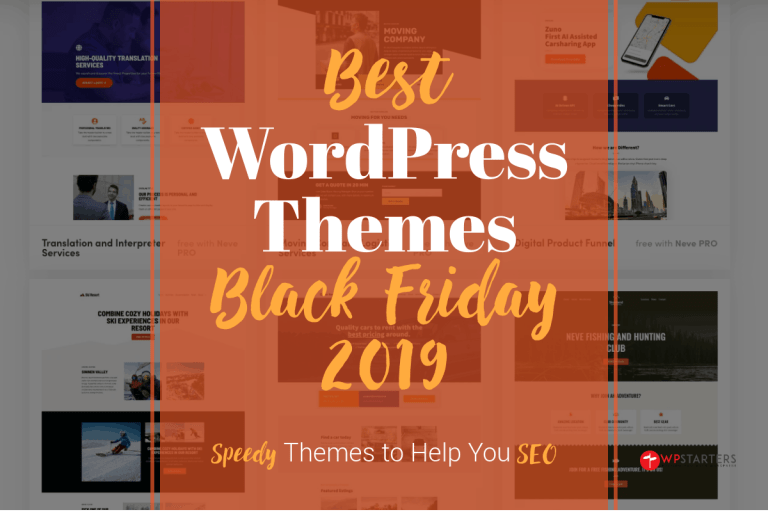 Best WordPress Themes Black Friday Deals 2019