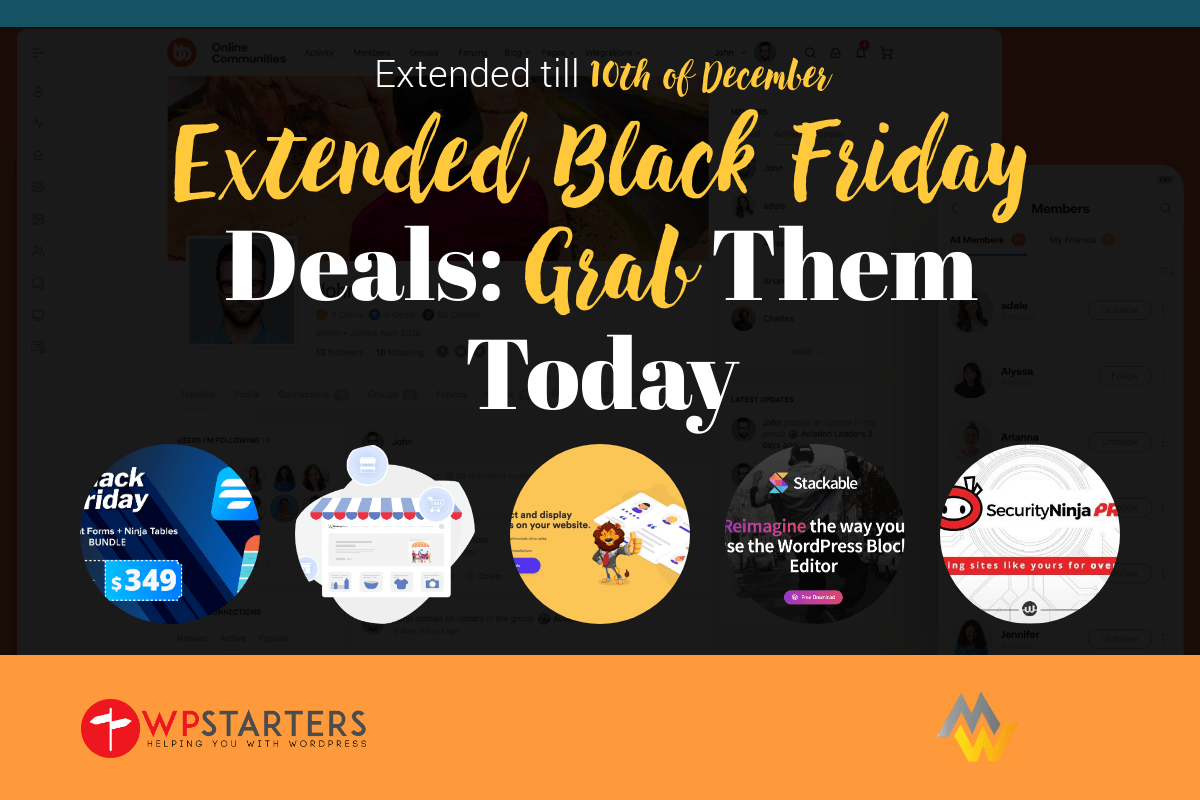 Extended WordPress Black Friday Deals 2019