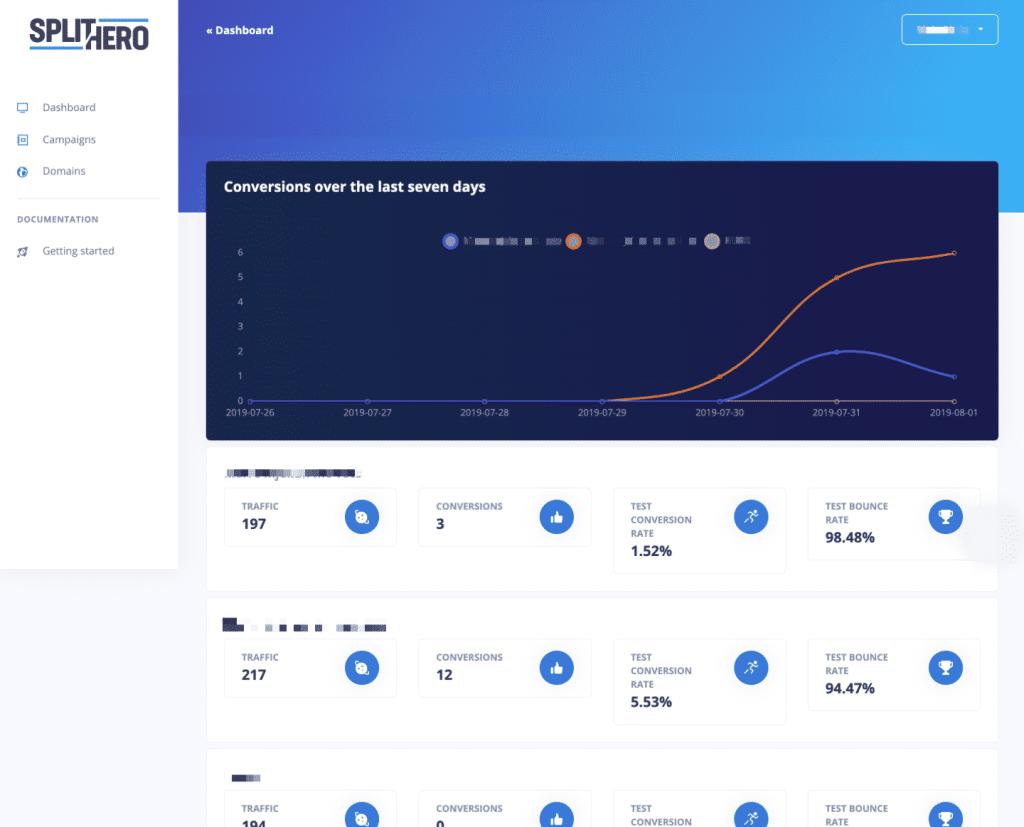 SplitHero allows you to easily do A/B Testing