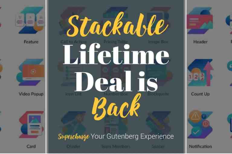 stackable lifetime deal