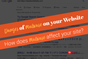 Danger of Malware on your website