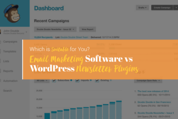 email marketing software vs wordpress newsletter plugins