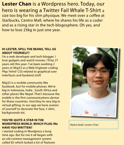 Lester Chan interview