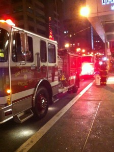 Fire Trucks At The Westin