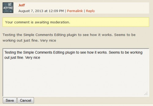 Simple Comment Editing 2