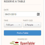 Open Table Widget