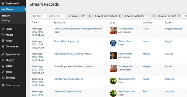 stream plugin records