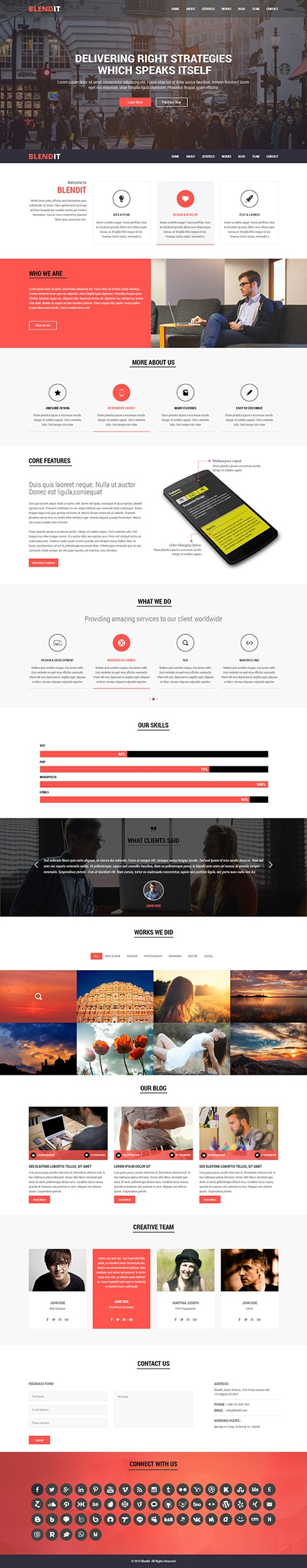 blendit WordPress theme