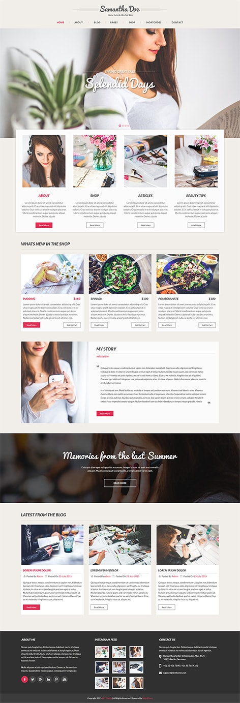 Women WordPress theme