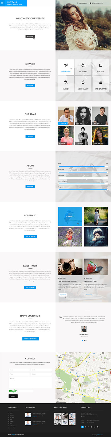 2 Screen WordPress theme