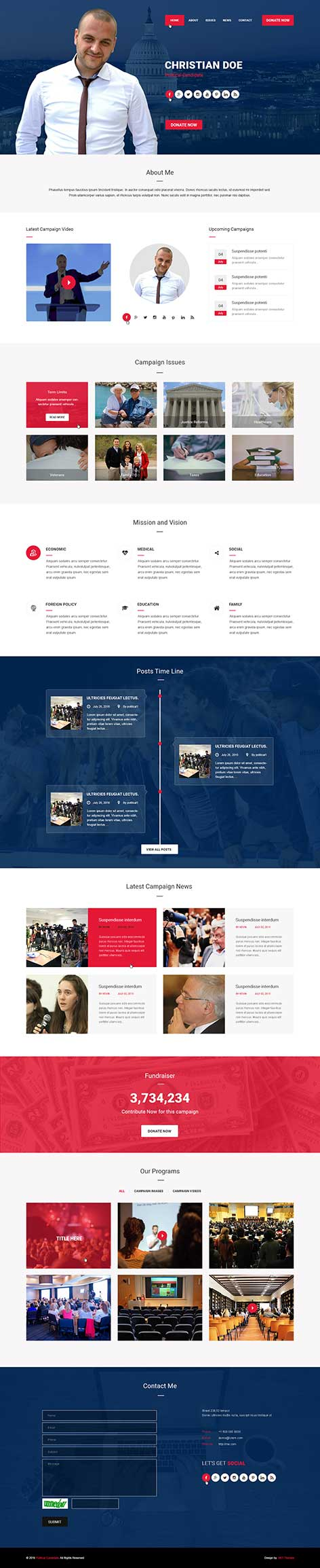 Politician WordPress theme